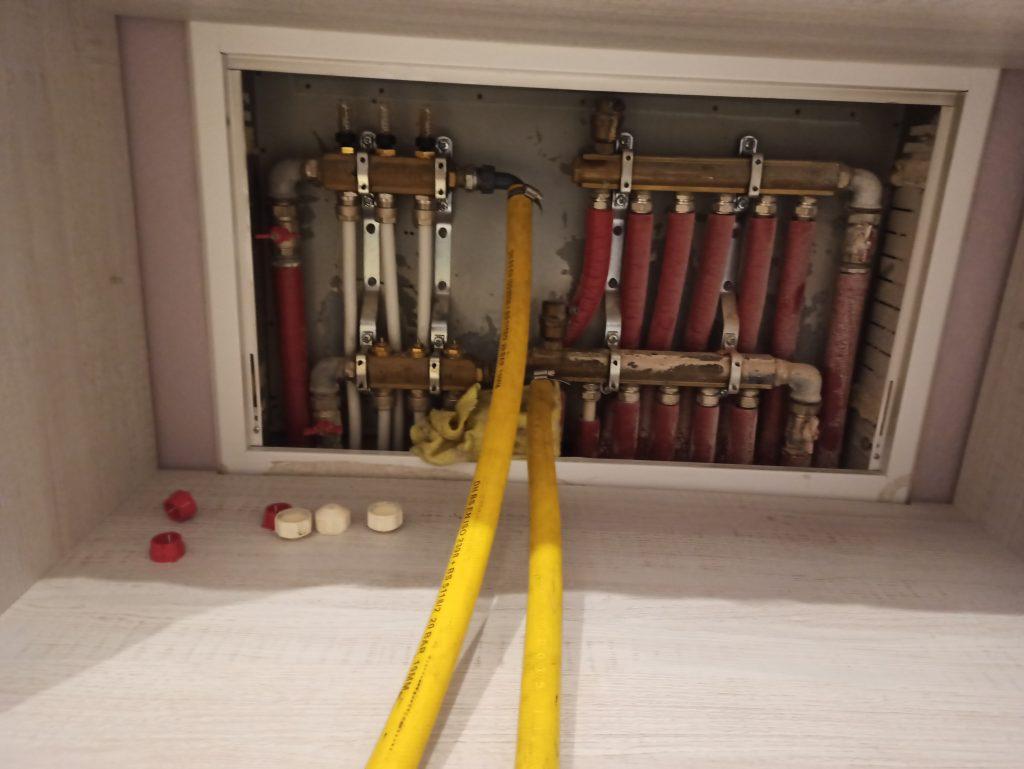 Płukanie instalacji ogrzewania podłogowego.