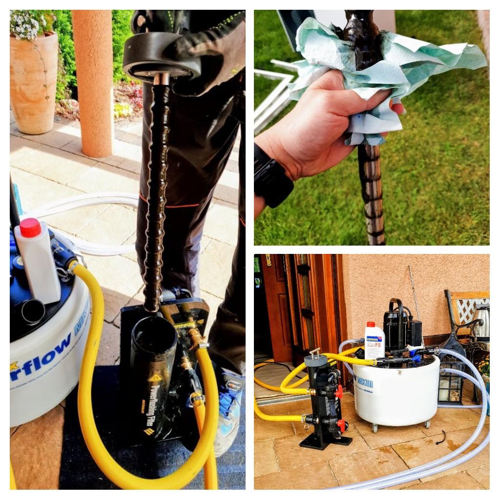 Czyszczenie instalacji C.O  płukanie ogrzewania podłogowego